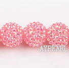 Acrylic bali beads,20mm,pink,Sold per 14.57-inch strands