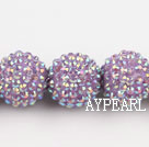 Acrylic bali beads,20mm,violet,Sold per 14.57-inch strands