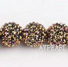 Acrylic bali beads,20mm,golden,Sold per 14.57-inch strands