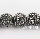 Acrylic bali beads,20mm,silver,Sold per 14.57-inch strands