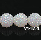 Acrylic bali beads,22mm,white,Sold per 13.78-inch strand