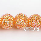 Acrylic bali beads,22mm,orange,Sold per 13.78-inch strand