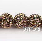 Acrylic bali beads,22mm,golden,Sold per 13.78-inch strand