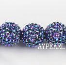 Acrylic bali beads,22mm,blue,Sold per 13.78-inch strand