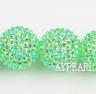 Acrylic bali beads,24mm,green,Sold per 14.57-inch strands