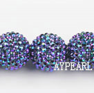 Acrylic bali beads,24mm,blue ,Sold per 14.57-inch strands