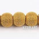bali beads ,15*18mm,yellow,Sold per 14.17-inch strand