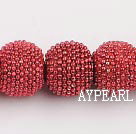 bali beads ,15*18mm,red,Sold per 13.39-inch strand