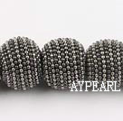 polymer clay beads,24mm,grey,Sold per 13.39-inch strands