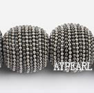 polymer clay beads,24mm,grey,Sold per 13.78-inch strands