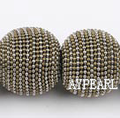 polymer clay beads,28mm,grey,Sold per 12.99-inch strands