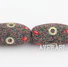 bali beads,18*30mm, muli colorwith copper core ,Sold per 13.39-inch strand