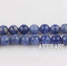 Sodalite beads,6mm round, blue, sold per 15.75-inch strand