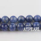 Sodalite beads,8mm round, blue, sold per 15.75-inch strand