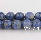 Sodalite beads,10mm round, blue, sold per 15.75-inch strand