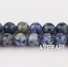Spotted sodalite beads,8mm round, blue, sold per 15.75-inch strand