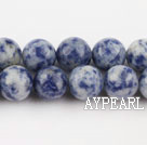 Spotted sodalite beads,10mm round, blue, sold per 15.75-inch strand