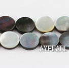 black lip shell beads,12mm flat oval,sold per 15.75-inch strand