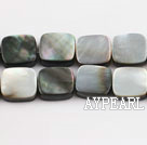 black lip shell beads,10mm square,sold per 15.75-inch strand