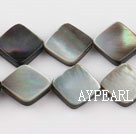 black lip shell beads,12mm square,sold per 15.75-inch strand