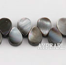 black lip shell beads,8*12mm teardrop,lateral hole,Sold per 15.75-inch strands