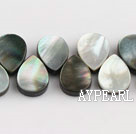 black lip shell beads,10*14mm teardrop,lateral hole,Sold per 15.75-inch strands