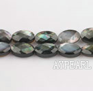 black lip shell beads,6*10mm egg,faceted,Sold per 15.75-inch strands