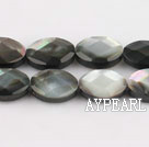 black lip shell beads,10*14mm egg,faceted,Sold per 15.75-inch strands