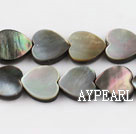 black lip shell beads, 12mm heart,sold per 15.75-inch strand