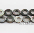 black lip shell beads, 10mm ring,hollow,sold per 15.75-inch strand