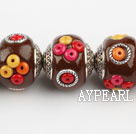 bali beads,20*22mm round,brown,Sold per 14.17-inch strands