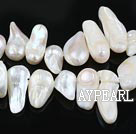 Pearl Beads, White, 7*15mm cover, Sold per 15.7-inch strand
