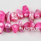 Pearl Beads, Light Purplish Red, 7*15mm dyed uncoating, Sold per 15.7-inch strand