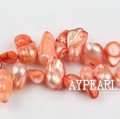 Pearl Beads, Orange, 7*15mm dyed uncoating, Sold per 15.7-inch strand