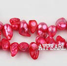 Pearl Beads, Red, 7*15mm dyed uncoating, Sold per 15.7-inch strand