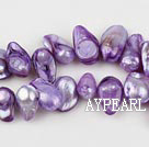 Pearl Beads, Violet, 7*15mm dyed uncoating, Sold per 15.7-inch strand