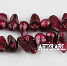 Pearl Beads, Wine Red, 7*15mm dyed uncoating, Sold per 15.7-inch strand