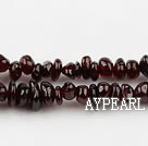 Chip Stone Beads, 3*5mm garnet, Sold per 35.4-inch strand