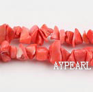 coral beads,3*10mm chips,jacinth,sold per 35.43-inch strand