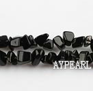 black stone chips ,3*7mm, sold per 35.43-inch strand