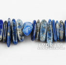 Lapis Gemstone Beads, Blue, 2*14mm long tooth, hole shape, Sold per 15.7-inch strand