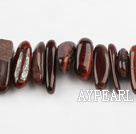 tigerite Gemstone Beads, Red, 4*19mm long tooth, hole shape, Sold per 15.7-inch strand