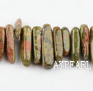 Gemstone Beads, Flower Green, 4*21 long tooth, hole shape, Sold per 15.7-inch strand