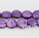 Shell Beads, Purple, 10mm dyed round,Sold per 14.96-inch strand