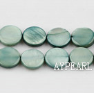 Shell Beads, Grayish Green, 10mm dyed round,Sold per 14.96-inch strand