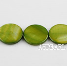 Shell Beads, Grass Green, 20mm dyed round, Sold per 15-inch strand