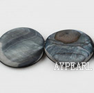 Shell Beads, Black, 30mm dyed round, Sold per 15-inch strand