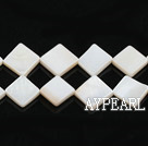 Shell Beads, Ivory White, 10*10mm opposite angles , Sold per 15-inch strand