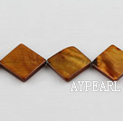 Shell Beads, Dark Amber Color, 15*15mm dyed opposite angles , Sold per 15-inch strand