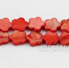 Shell Beads, Watermelon Red, 3*10mm dyed quincunx, Sold per 15-inch strand